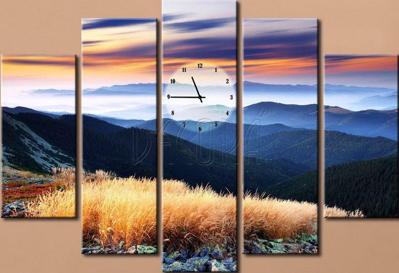 часы с картиной: