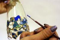 Краски по стеклу, керамике, металлу (без обжига)