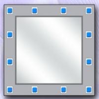 """Зеркало """"Аквамарин"""" (код 1/2)"""