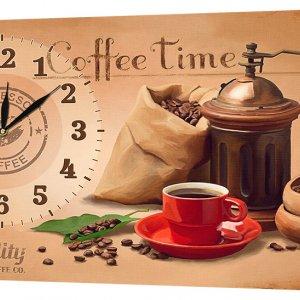 Настенные часы Декор Карпаты 53х29 Время кофе (53х29-ch37)