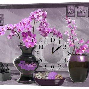 Настенные часы Декор Карпаты 53х72 Орхидеи в вазах (53х72-F5)
