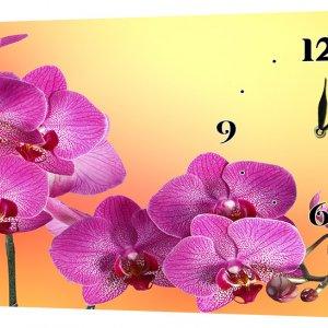 Настенные часы Декор Карпаты 24х44 Орхидеи (24х44-c23)