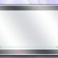 Зеркало горизонтальное с полкой