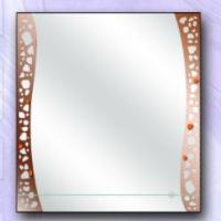 Зеркало с рисунком и полкой, бронза
