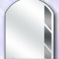 Зеркало с полкой, графит