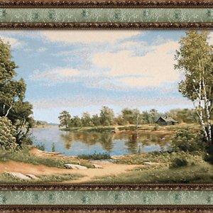 Гобеленовая картина Декор Карпаты Тропинка у озера 70х140 (gb_14)