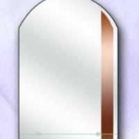Зеркало с бронзовой вставкой и полкой