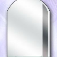 Зеркало с графитовой вставкой и полкой