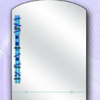 Зеркало с рисунком 3, с полкой