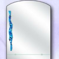 Зеркало с рисунком 1, с полкой