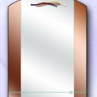 Зеркало с узором и полкой, бронза