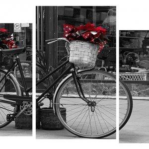 Модульная картина Декор Карпаты 100х53 см Велосипед (M3-t159)