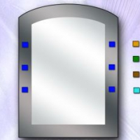 Зеркало двойное, графит