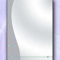 Зеркало с двумя полками, сатин
