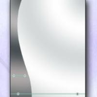 Зеркало с двумя полками, графит