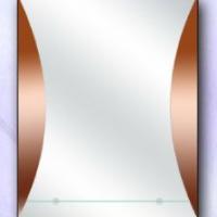 Зеркало декоративное с полкой, бронза