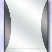 Зеркало декоративное с полкой, графит