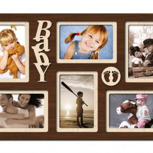 "Фоторамка коллаж Декор Карпаты ""Baby"" 51х33 см Венге (H6-030A)"