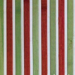 Бамбукові шпалери кольорові червоно-зелені 17 мм