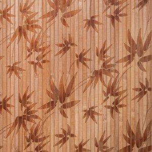 Бамбукові шпалери з малюнком Листя 8 мм