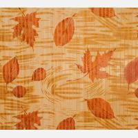 Бамбуковые обои с рисунком Осень 17 мм