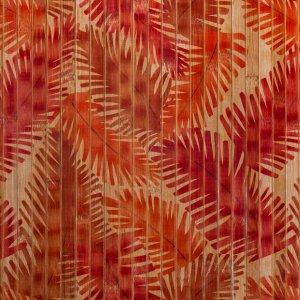 Бамбуковые обои с рисунком Папоротник 17 мм