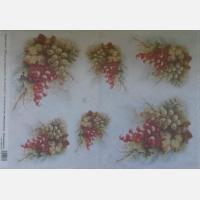 Декупажная карта Гроздья винограда