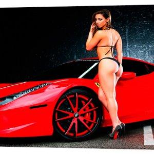 Картина на холсте Декор Карпаты Автомобили 50х100 см (M810)