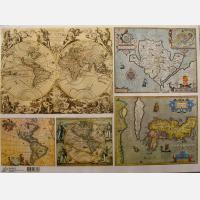 Декупажная карта Старинные карты