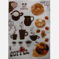 Декупажная карта Завтрак: кофе с печеньем