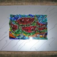 "Картина из стекла ""Арбузы"""