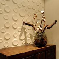 Гипсовая 3D панель стеновая Кратеры