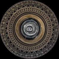 Светильник потолочный гипсовый AZ 29 Бронза