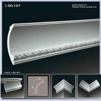 Плинтус потолочный 1.50.107 полиуретановый