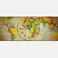 """Часы-картина """"Время путешествий"""""""
