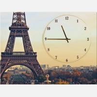 "Часы-картина ""Париж и Эйфелева башня"""