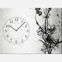 """Часы с картиной """"Стебли растений"""""""