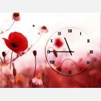 """Часы с картиной """"Цветок мака"""""""