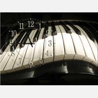 """Часы-картина """"Клавиатура фортепиано"""""""
