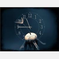 """Часы с картиной """"Одуванчик"""""""