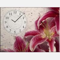 """Часы с картиной """"Цветок лилии"""""""