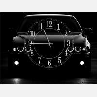 """Часы-картина """"Черный авто"""""""