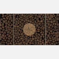 """Модульная картина-часы """"Зерна кофе"""""""