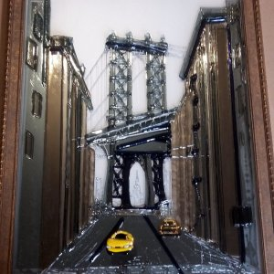 Картина из стекла «Мост»