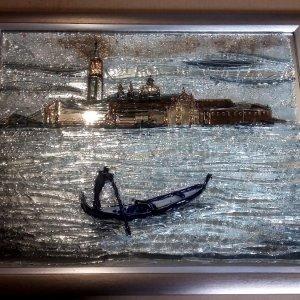 Картина из стекла «Гандольер»