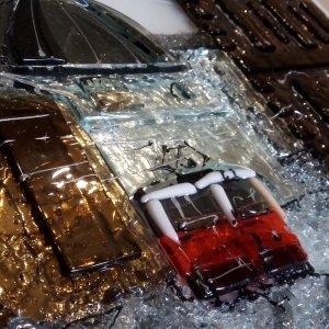 Картина из стекла «Трамвайчик»
