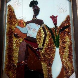 Картина из стекла «Восточная красавица»
