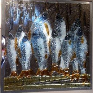 Картина из стекла «Рыбье семейство»