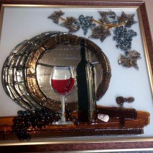 Картина из стекла «Виноделие»