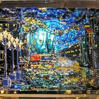 Картина из стекла «Фонари»